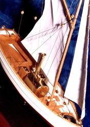 Модель парового катера
